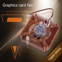 ventilador de 55mm al por mayor-Al por mayor- 55mm Ventilador de enfriamiento de aluminio Ventilador Snowhite para PC PC CPU VGA Video Card Envío gratuito