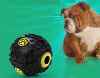 ingrosso forniture di hot dog-2018 Hot Pet Puppy Sound palla leakage Cibo palla giocattolo sonoro palla Pet Dog Cat Squeaky mastica cucciolo Squeaker Sound Pet Supplies Play