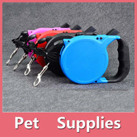 Wholesale Pink Blue Dog Collar - 8M Retractable Extendable Pet Leash Dog Lead Leash Training Tape 35kg BM With 4 colors Black Blue Red Pink