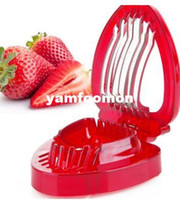 Wholesale Strawberries Cut Fruit Knife Simply Slice Stainless Steel Blade Strawberry Slicer for Desserts Making Kitchen Gadgets