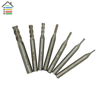 Wholesale Hss End Cutter - Best Price 7pc HSS 4 Flutes Router Bit End Mill Milling CNC Cutter Wood Aluminum Drill Bits Straight Shank 1.5 2 2.5 3 4 5 7 mm order<$18no