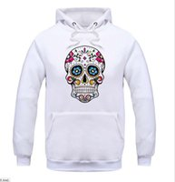 Wholesale Hooded Skeleton - 2016 Fleece Casual Unisex Hoodies Sweatshirt Skull Skeleton Sport Hip-hop Pullover Hooded Sweatshirts Mens Sportwear Coat Jogger For man