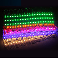 Wholesale Sign Letter Outdoors - 5050 SMD LED Module Light Waterproof 3 LED modules White Green Red Blue RGB For outdoor advertising Sign Letters Back Light DC12V 0.72W