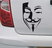 V for Vendetta Anonymous fawkes etiqueta do carro janela Truck Bumper Auto SUV Porta Laptop Kayak Wall Art Etc Vinyl Decal