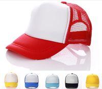 chapéus feitos sob encomenda do chapéu do snapback venda por atacado-14 cores Crianças Tampão Do Camionista Adulto Tampas de Malha Em Branco Bonés Chapéus Snapback Acept Custom Made Logotipo D780