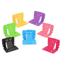 Wholesale tablet stand plastic card for sale - Group buy Good Quality Plastic Portable Foldable Card Phone Mounts Cell Phone Tablet Stand Holder For Phone Table PC