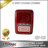 Wholesale Led Jeep Tail Lights - free shipping Jeep Wrangler LED tail turn run signal reverse light for JK 07-15 offroad vehicles