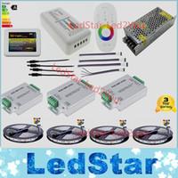 ingrosso kit di amplificatori-Wifi 20m Kit striscia LED Mi luce RGBW RGB 5050 2835 tiras Impermeabile + Telecomando RF + Amplificatore + Adattatore di alimentazione Liberi la nave