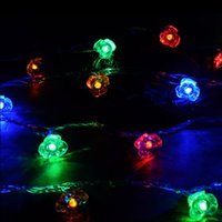 Wholesale- String Lights 5/10 / 25M Led Rose Flower Fairy Light LED Luzes de Natal para Outdoor LED Garland Patio Party Wedding Decoration