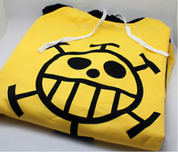 Wholesale Trafalgar Law Hoodies - Wholesale-Brand Unisex Death Surgeon Anime ONE PIECE Trafalgar Law Cosplay Sweatshirt Hooded Hoodie woman and men Clothes Free Shipping