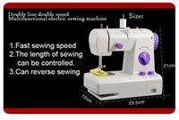 Wholesale Multifunction Mini Sewing Machines - Multifunction Household Mini Desktop Fully Automatic Sewing Machine 2 Power Modes (battery + power) Wth Power Lights.