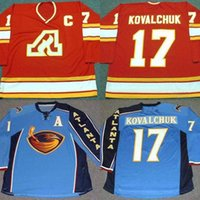 Wholesale Kovalchuk Jersey - 17 ILYA KOVALCHUK Atlanta Flames 1970 Throwback Jerseys Stitched CCM Throwback Hockey Jerseys Blue Red Free Shipping