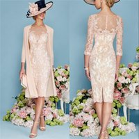 Wholesale Champagne Half Jackets - Beautiful Mother of the Bride And Evening Wear Sheer Bateau Half Sleeves Chiffon Jackets And Boleros Classic Tailoring Stunning Skirt Suits