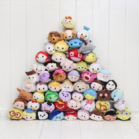 Wholesale Doll Phone Accessories - Tsum Tsum mini Plush Toys Lilo Stitch Marie Alice Cheshire Cat pig Pendant Doll Phone Mobile Clean & Protect phone accessories