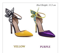 Wholesale Color Block Dresses Office - RainbowCat Dress Shoes Sexy Color Block Butterfly Design Ladies High Heel Leather Shoes Top Quanlity 1B