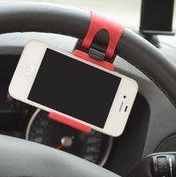 suporte de carro flexível iphone venda por atacado-Universal Car Phone Volante Titular Tomada de Telefone Celular de Bicicleta Suporte de Montagem de Telefone Flexível iphone GPS Titular estender a 76mm Livre DHL