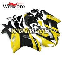 kits de plastico de moto al por mayor-Carenados para Kawasaki ZX-6R 636 2007 2008 Inyección Cubiertas de cubierta de plástico ABS Motocicleta ZX6R Paneles Kits de carrocería Yellow Black Motorbike Panels