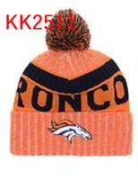 Wholesale Cool Winter Beanies - hot sale 2017 Broncos beanie Denver hats Men Cool Women Sport warm winter beanies with pomp Caps Hats Accept Drop ship