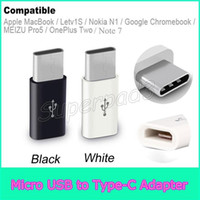 Wholesale Mini Usb Cable Adapters - Mini Micro USB Female to Type-c Male Cable Adapter Samsung Note 7 Mackbook Charge Data Sync Converter For Type C Phone Tablets