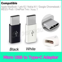 mackbook al por mayor-Mini Micro USB Hembra a Tipo C Adaptador de Cable Macho Samsung Note 7 Mackbook Cargador de Sincronización de Datos de Carga Para Tabletas de Teléfono Tipo C