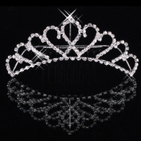 Wholesale Hearts Crown - Cheapest Shining Rhinestone Crown Girls' Bride Tiaras Fashion Crowns Bridal Accessories For Wedding Event