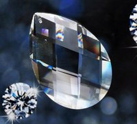 AAA Quality MC 38mm Clear color Crystal Glass Almond Prisms Гарланд Подвески Замена люстр.