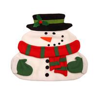 embalagens grátis venda por atacado-Natal Papai Noel Placemats Snowman Mat Lugar Mat Pads Com Guardanapo Mesa de Jantar Suprimentos de Natal Decorações frete grátis