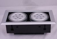 Wholesale Gall Led - Wholesale High Quality 2*9W Led Ceiling Light Super Brightness 1800lm LED Beans Gall Lamps Led Downlights LED Driver AC85-265V Free Shipping