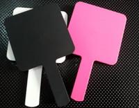 мини-цветные коробки оптовых-Горячий 3 цвет роскошный макияж зеркало мини-зеркало с логотипом старинные зеркало для рук косметика инструменты с VIP подарочной коробке