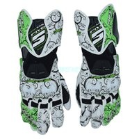 Wholesale Gloves White Color Leather - FIVE RFX1 tribal gloves MOTO GP protective motorcycle gloves auspicious clouds racing leather gloves 4 Color