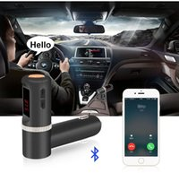 Transmetteur Chargeur BC08 voiture Bluetooth FM mains libres Flash Card MP3 Lecture Dual USB Charger Port LED Digital Display Stereo Musique Lecture Kit Auto