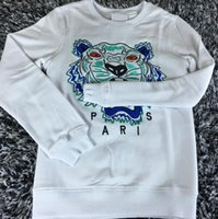 Wholesale Letter S K - wholesale the best quality K*Z* Prais brand Embroidered tiger head logo sweater O-Neck pullover Terry sweatershirt jimpers original