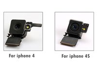 Wholesale Original Rear Back Camera 4s - Test Passed Original For APPLE iPhone 4 4G 4S Back Rear Camera Lens Flash Module with Flex Cable Replacemen 10PCS Lot