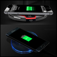 Wholesale Galaxy S Charger Case - For Samsung Galaxy S6 S7 Edge Plus QI Wireless Charger Phone Case Cover for Galaxy Note 5 7 S Mobile Phone Coque Bag Accessories