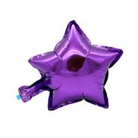 aufblasbare party dekoration stern großhandel-10 zoll helium ballon fünf punkt stern hochzeit ball aluminium folienballons aufblasbare geburtstag spielzeug party dekoration gold