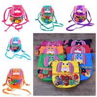 Wholesale folk dog - 10 Colors Fashion Children Patchwork Dog Messenger Bag Folk-custom Backpacks Outdoor Travel Bags Dog Shoulder Bags CCA7579 120pcs