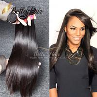 3 adet 26 düz perulu saç toptan satış-8A Perulu Saç Örgüleri İnsan Saç Uzantıları Brezilyalı Demetleri Işlenmemiş Ipeksi Düz Saç Hint Malezya 3 adet / grup Bellahair