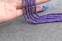 Wholesale Purple Jade Faceted - excellent quality 5 strands Natural 2x4mm Beautiful faceted Purple gemstones jade rondelle diy Loose beads 15""
