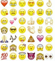 Wholesale 20 Sheets Die Emoji Removable Decal Mural Home Decor Emoji Smile Sticker For Laptop Notebook Message facebook tiwtter children s gifts