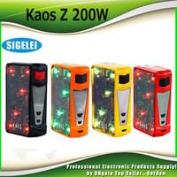Wholesale E Cigarette Led Light - Original Sigelei Spectrum Kaos Z 200W TC Box Mod Upgraded TFT Color Screen LED Light Ecig Mods E Cigarette Vape Mod 100% Authentic