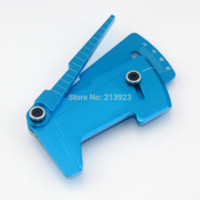 Wholesale Alloy Rc Car Wheels - CNC Adjustable Ruler Adjusting RC car height & wheel Rim Camber Measure 15 degrees Alloy Blue