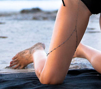 Wholesale Copper Legs - wholesale legs Thigh chain jewelry Punk Anklets Sexy CU Beads Leg Chain Europeana New Arrivel Summer Bikini Accessories silver gold plated