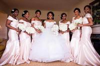 Wholesale strapless mermaid trumpet taffeta wedding dress for sale - 2016 African Nigerian Women Bridesmaid Dresses Cheap Wedding Guest Dress Mermaid Heavy Material Handmade Bridesmaid dress