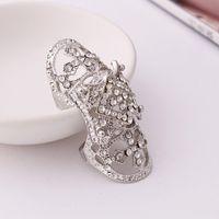 американская броня оптовых-Горячая европейской и американской моды кольца крест преувеличены совместных броня кольца геометрия кольца для женщин бесплатная доставка