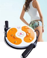 Wholesale Pull Magnets - Wholesale-1pc Top Massage Magnet Twister Plate With Cord Pull Waist Wriggling Plate Plastic Massage Board Fitness Equipment