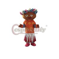 Wholesale Cartoon Upsy Daisy Mascot Costume Inspired by In the Night Garden Unisex Halloween Mascot Costume D0311