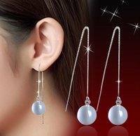 Wholesale Drop Earrings New Arrival - 2016 new arrival 925 sterling silver jewelry wholesale high-grade Opal ball Natural Stone Earrings dangle drop tassel earring