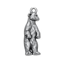 Wholesale Wholesale Antiques Online - My Shape Fashion Jewelry Series Zinc Alloy Antique Silver Plated Online Wholesale White Bear Shaped Animal Charms