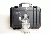 Wholesale Inch Egg - CCG Fab Egg Water Pipes Glass Bongs with Seed Of Life Perc 9.5 Inch Height thick base 14.5mm joint