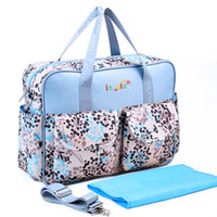 Wholesale Large Tote Patterns - Free Shipping Outdoor WaterProof Mother Baby Embroidered Diaper Bag Multifunctional Large Contain Maternity Shoulder Nappy Bag 10 Patterns